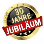 """Button mit Banner """" 30 JAHRE JUBILUM """""""